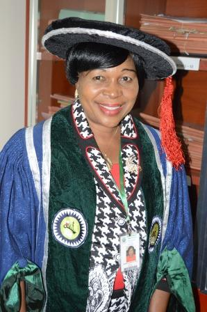 EUI Registrar Dr. Mrs. I. Ogboro, during the  2nd matriculation