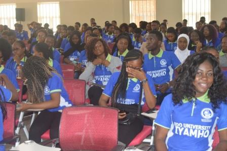 Cross section of students at the maiden Founders day