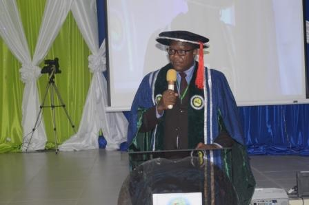 The Vice Chancellor @ the maiden Founders day