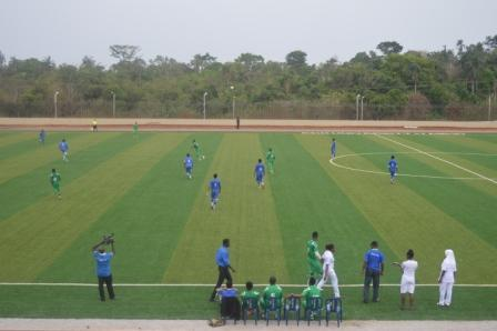 Action on the pitch during the  1st VC's cup finals