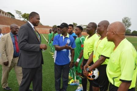 Introduction of match officials and contesting teams to the VC and his team by the sport  director of EUI