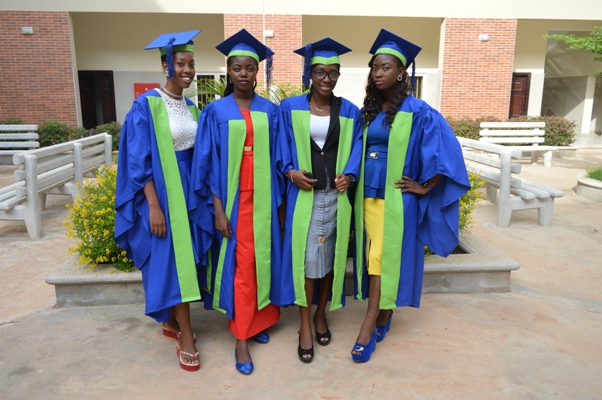 Cross section of 2015/2016 Inaugural students in their matriculation gown