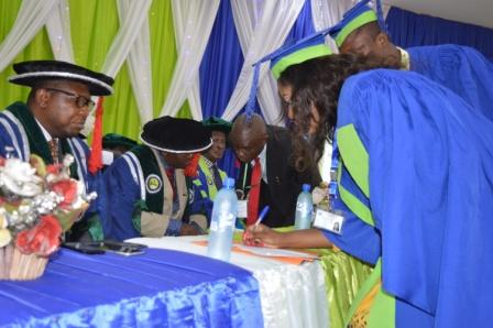 Signing of the Matriculation Register